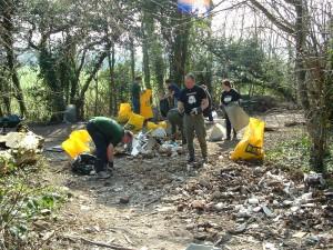 Clearing builders waste